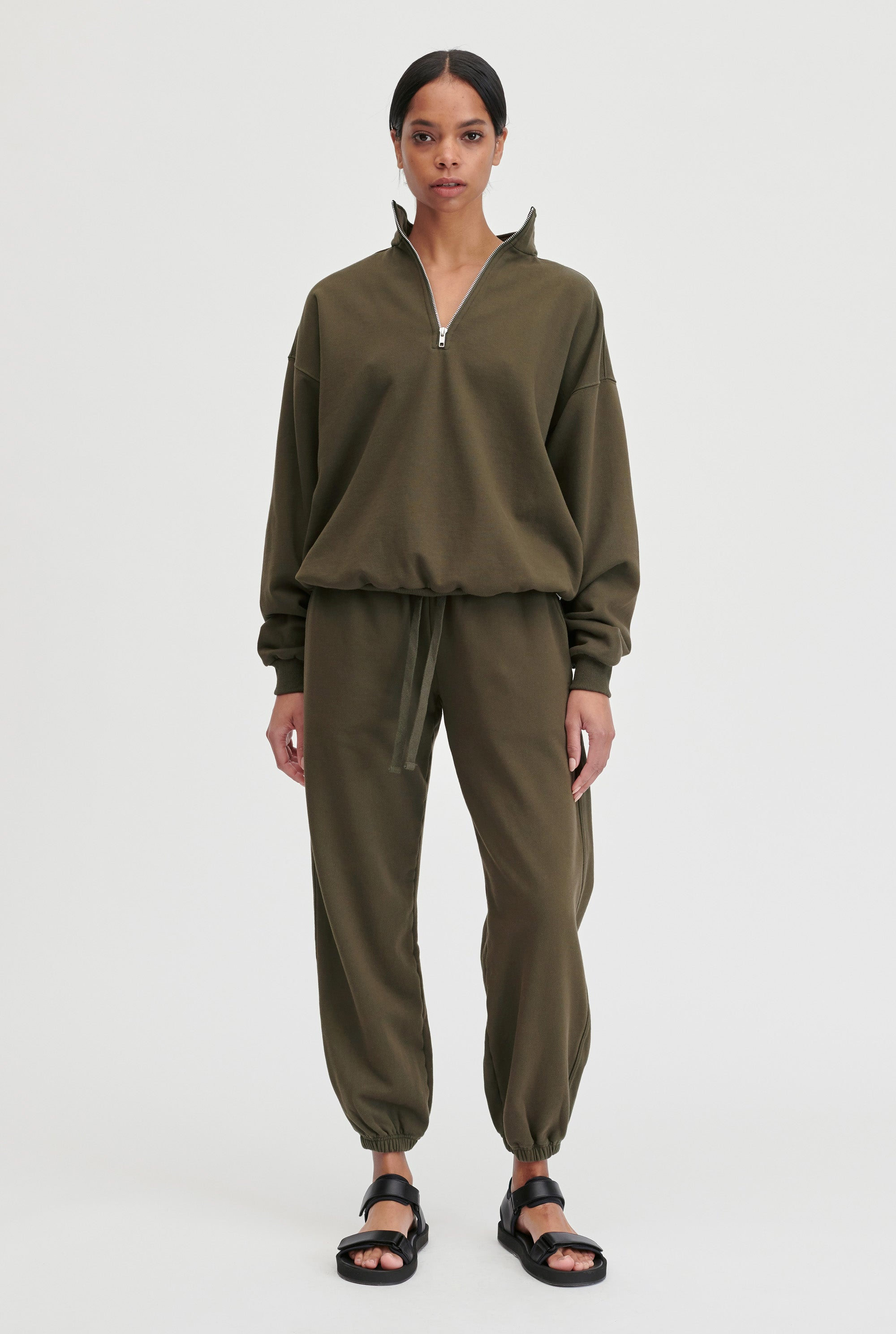 Womens Track Pant - Dark Olive