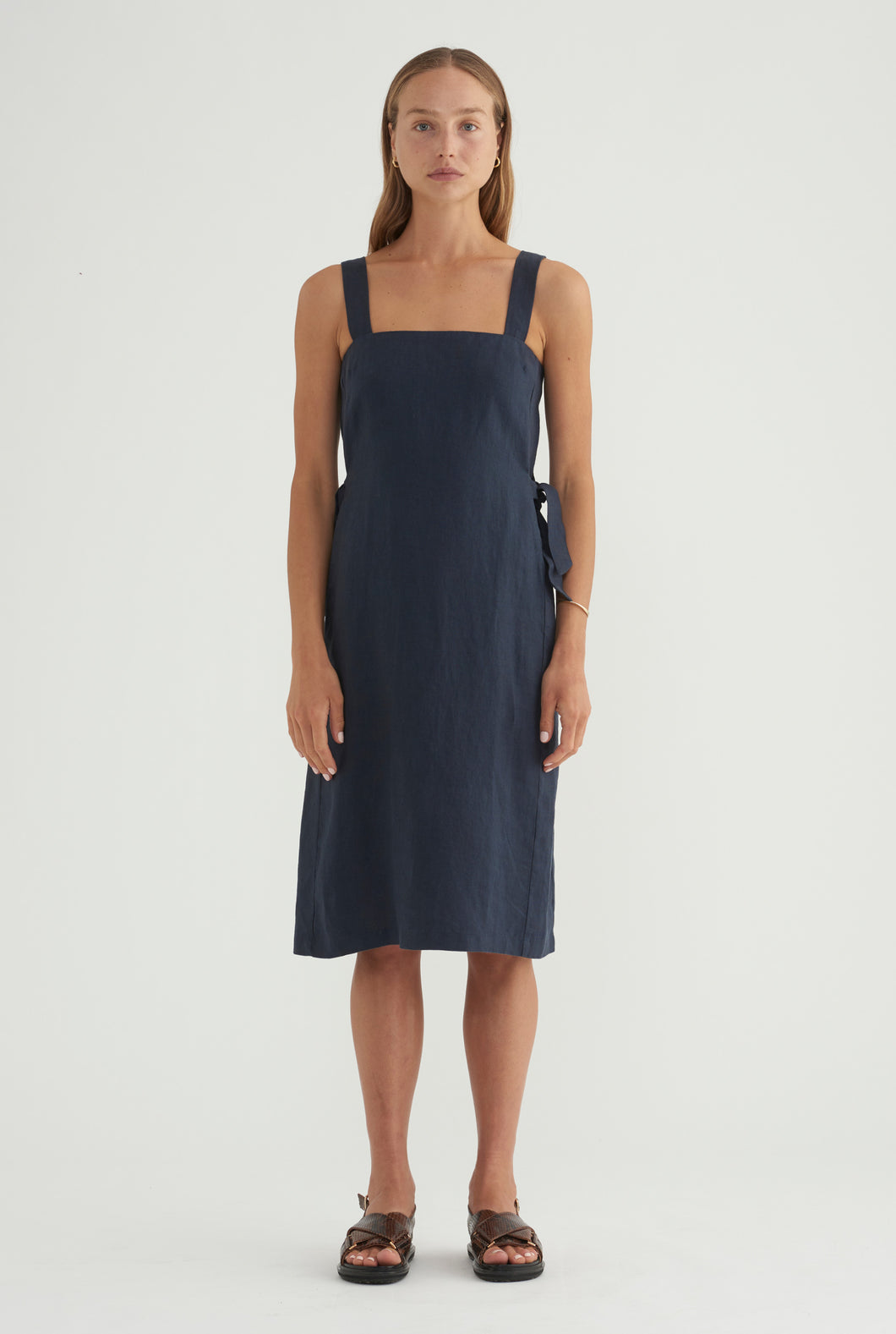 Side Knot Midi - Navy