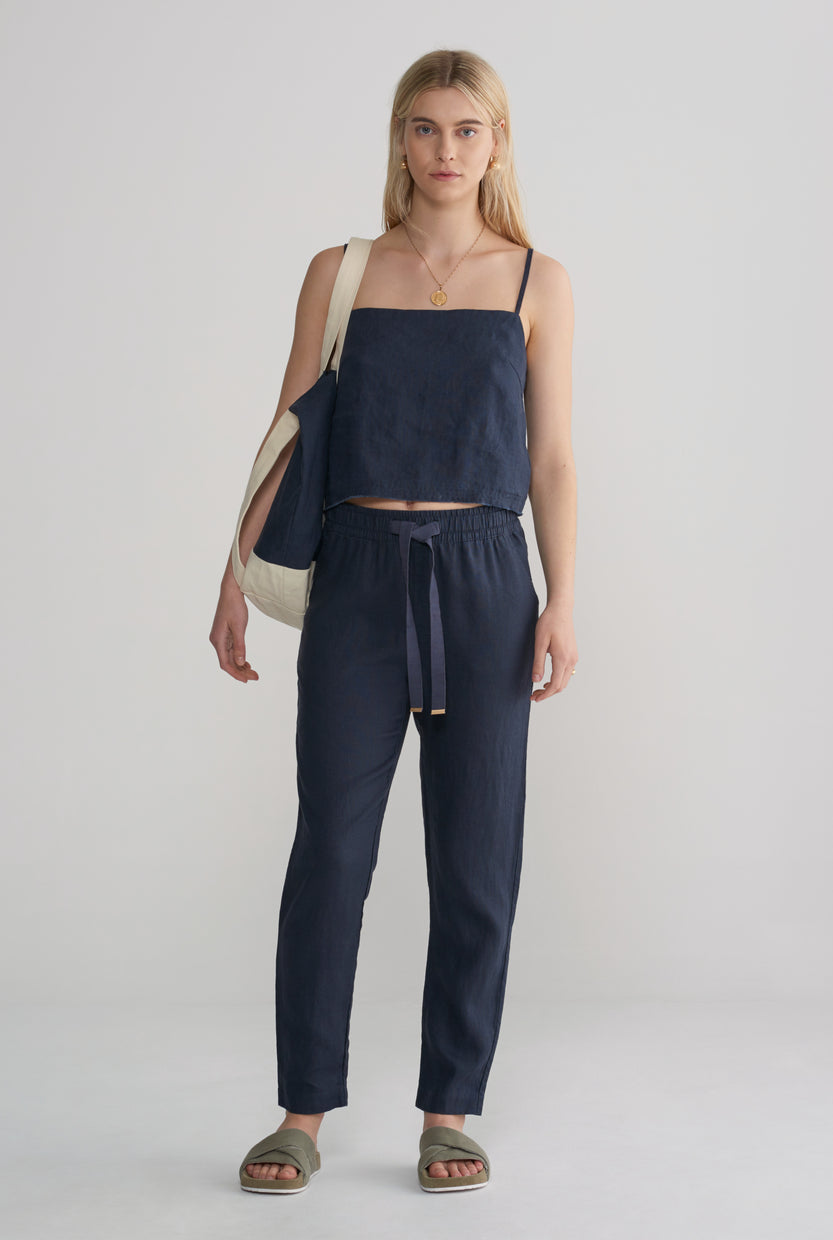 Womens Lounge Pant - Navy