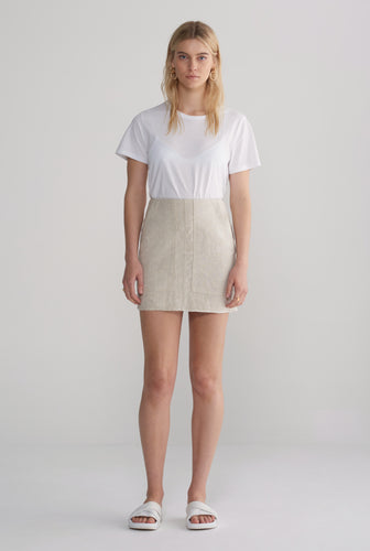 Womens Pocket Mini Skirt - Sand