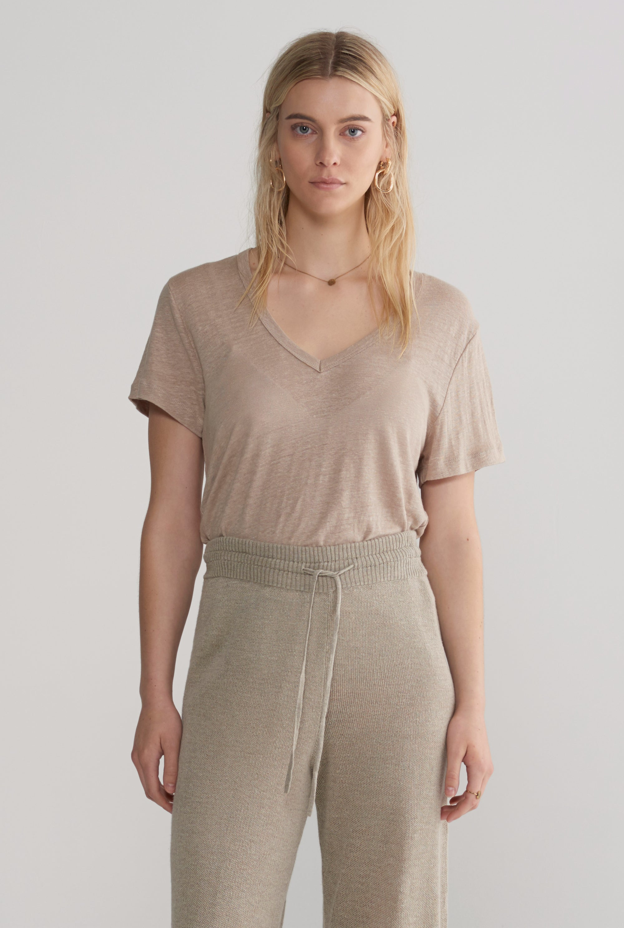 Scoopneck T-Shirt - Taupe