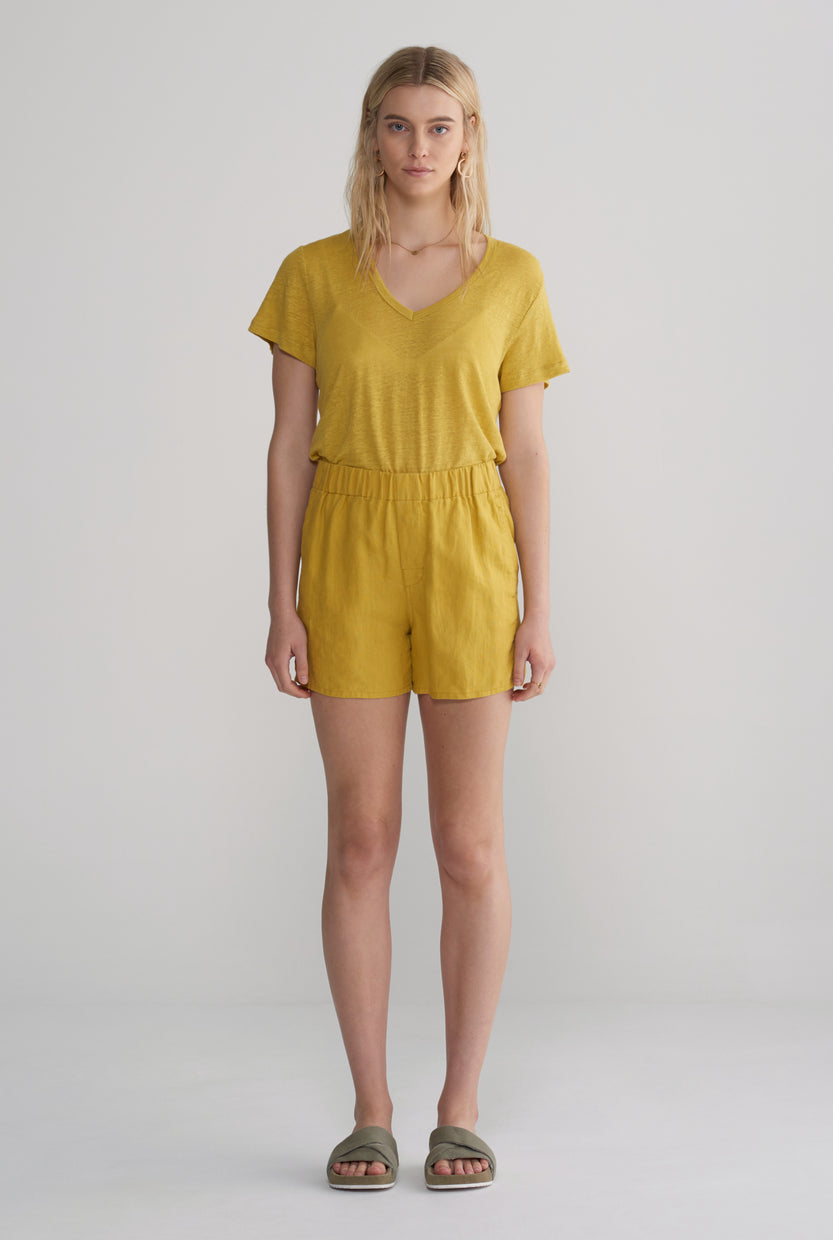Womens Boxer Short - Mustard