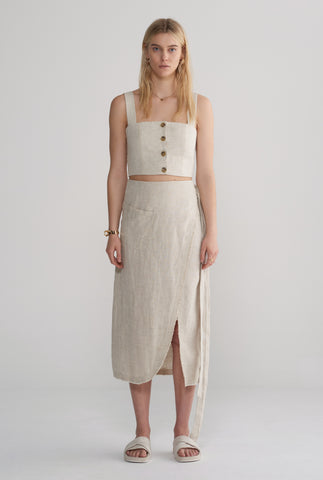 Womens Wrap Skirt - Sand