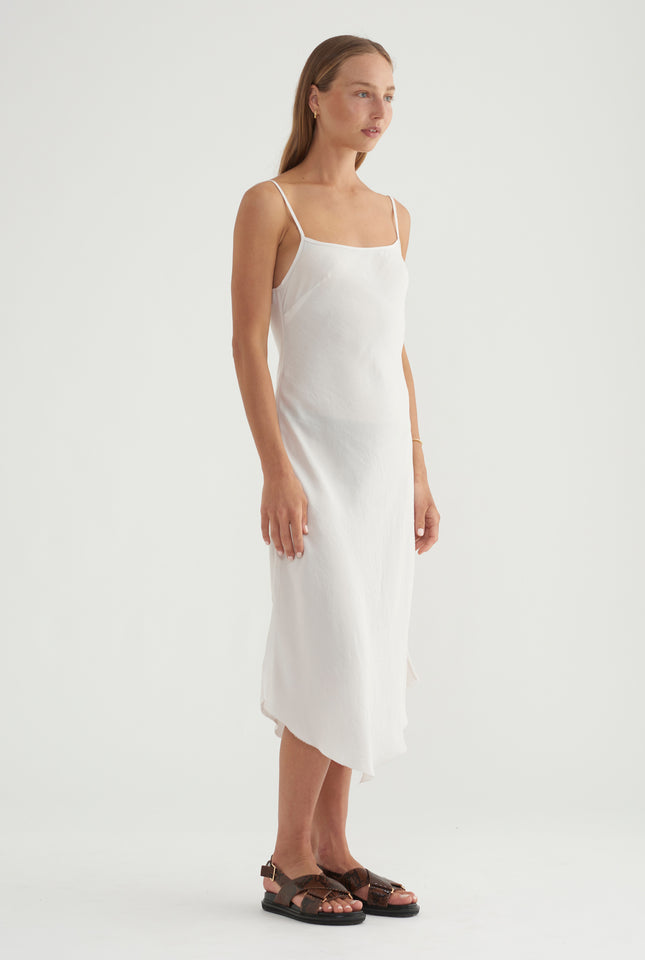 Silk Bias Dress - Shell