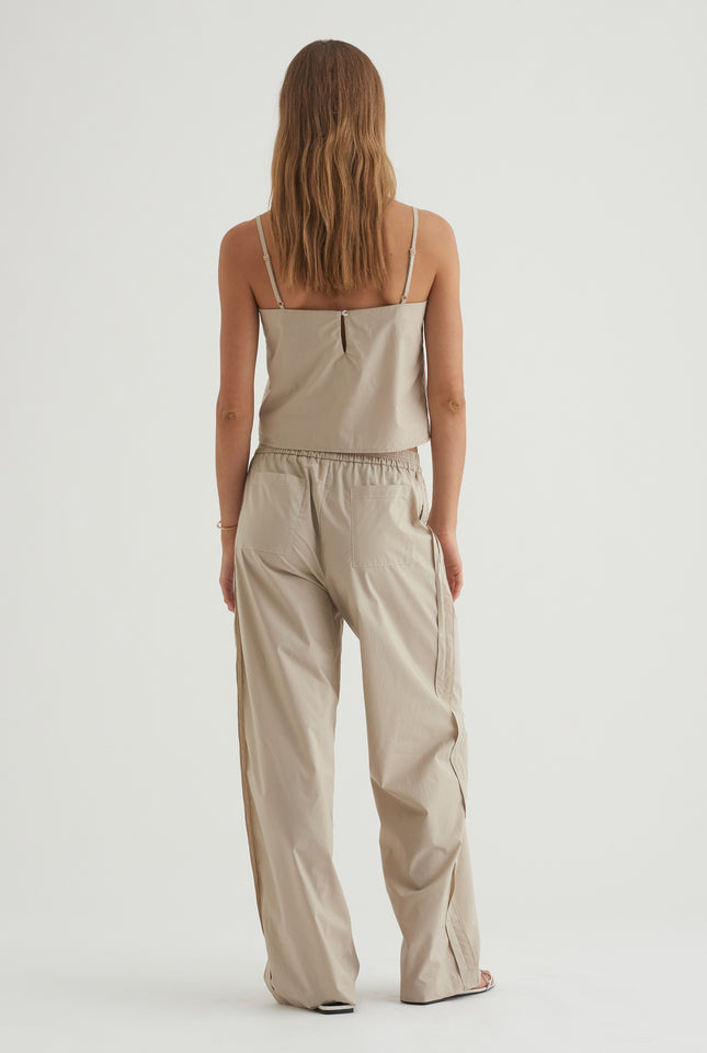 Paper Weight Poplin Pant - Putty