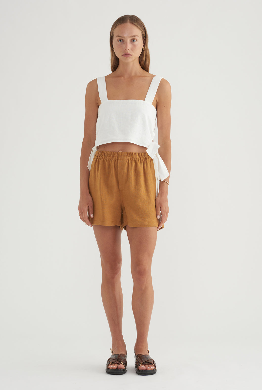 Side Knot Top - White