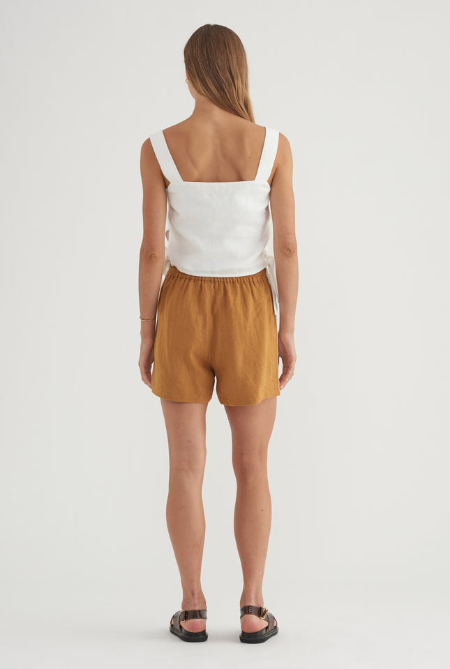 Side Stripe Short - Ochre/HS Tape