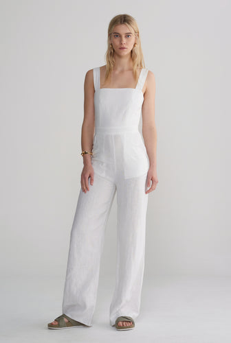 Womens Fitted Jumpsuit - White