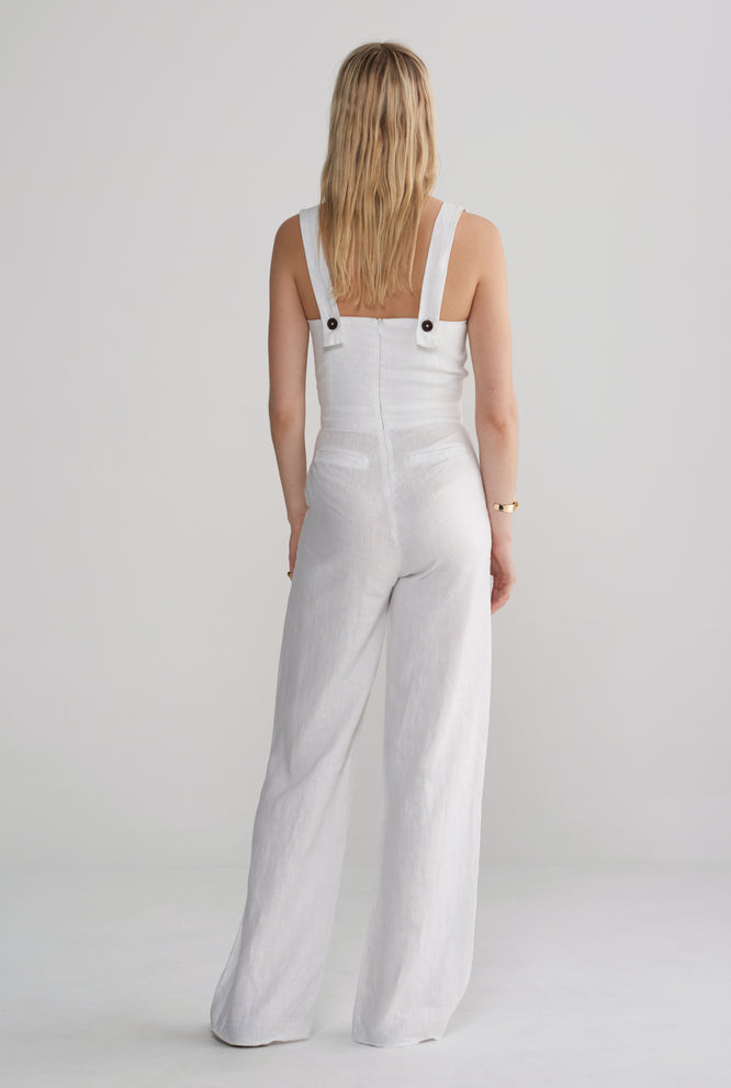 Fitted Jumpsuit - White