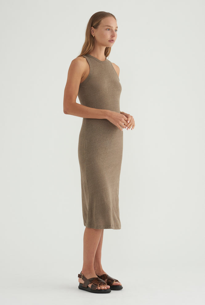 Cutaway Dress - Military