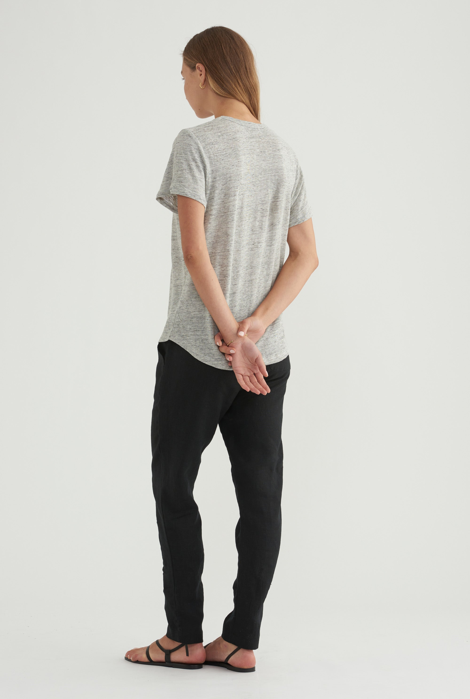 Scoopneck T-Shirt - Grey Marl