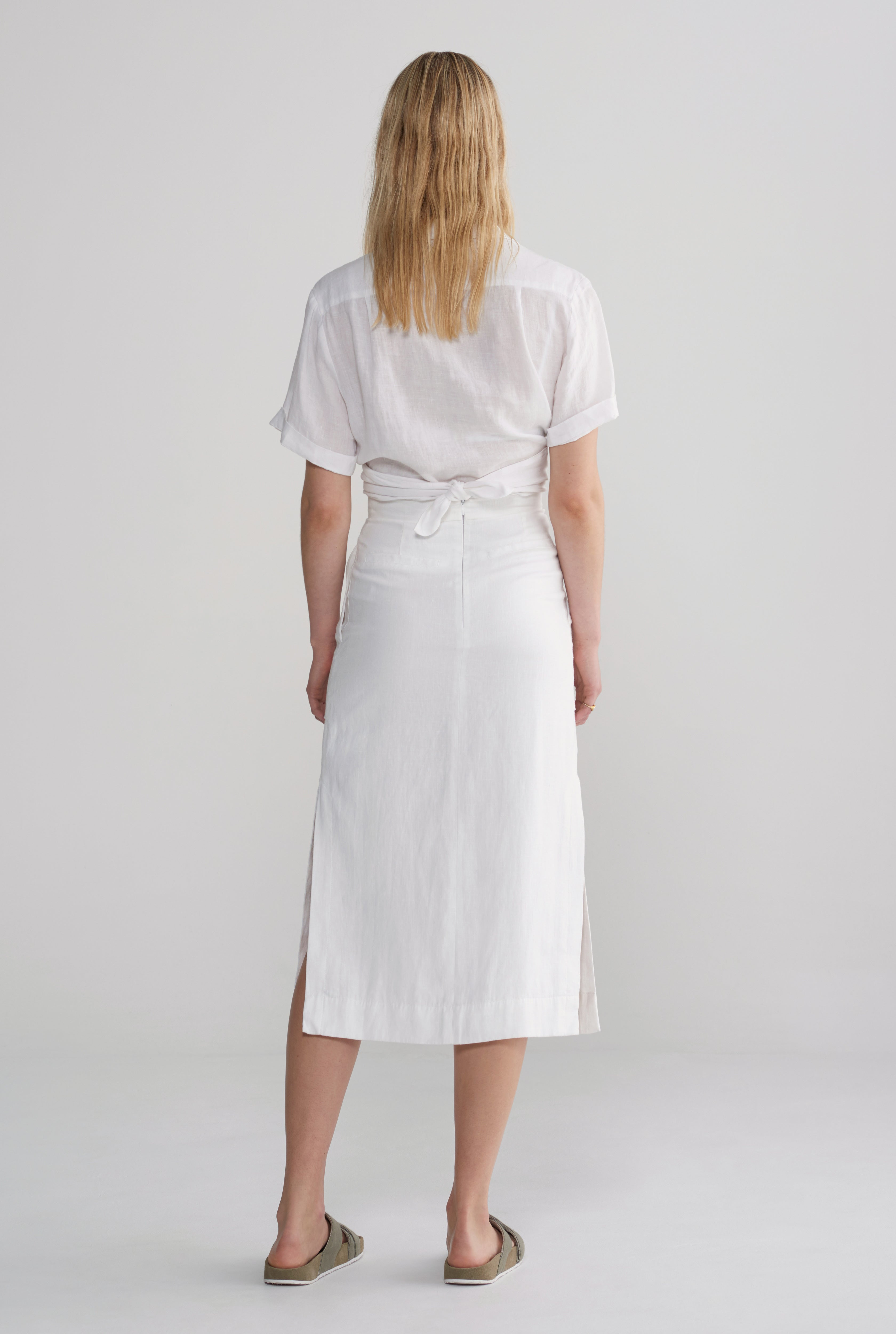 Front Tie Shirt - White