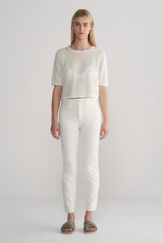 WOMENS JAPANESE DENIM JEAN - OFF WHITE
