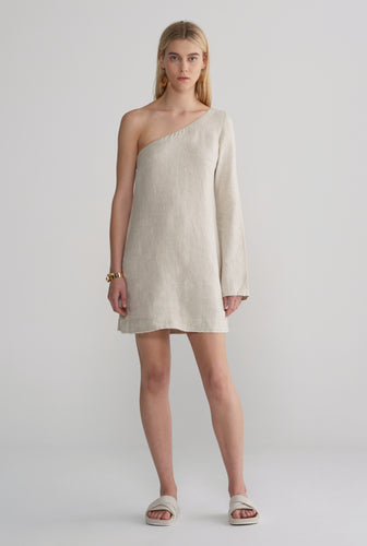 One Shoulder Dress - Sand