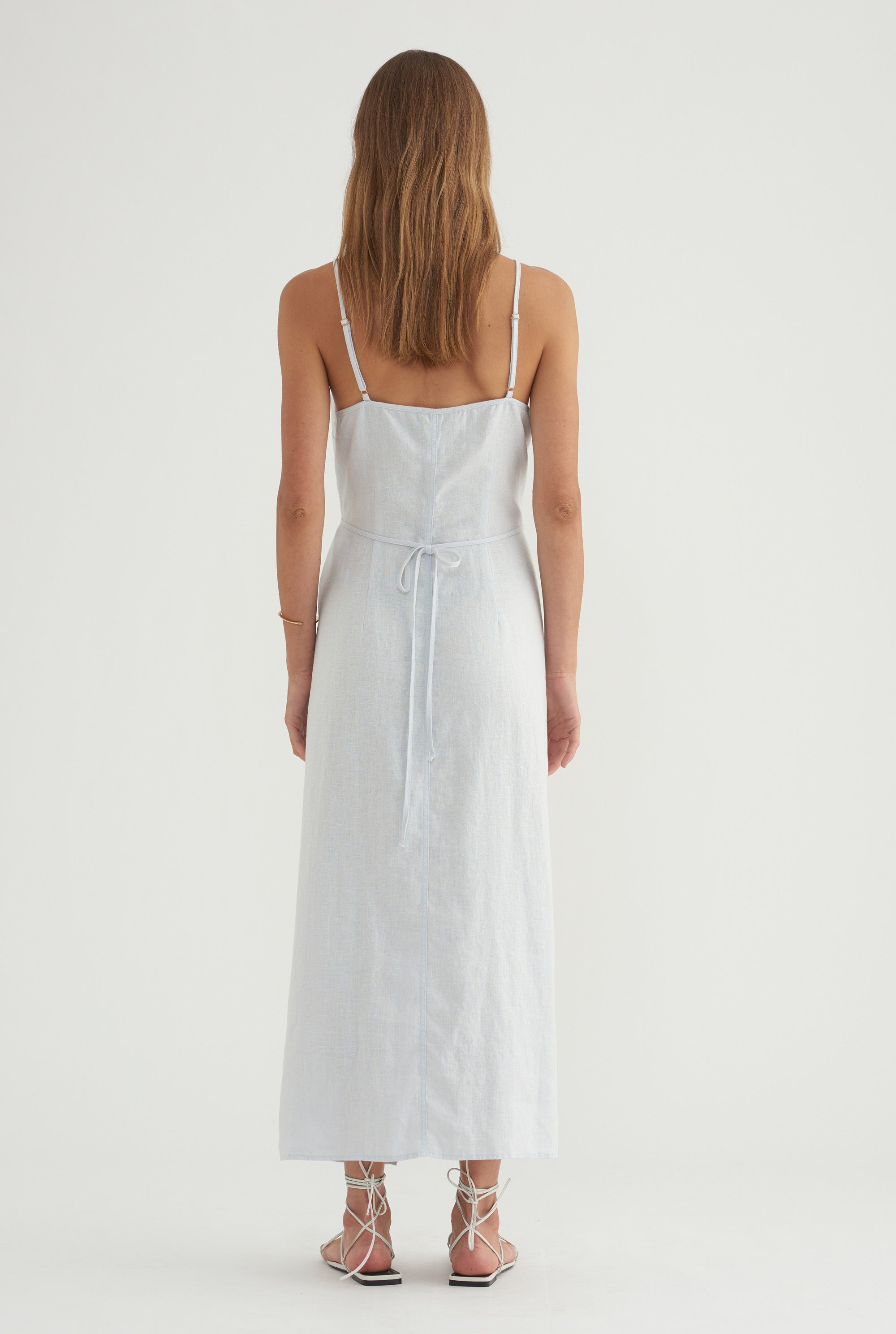 V-Neck Wrap Dress - Ice Blue