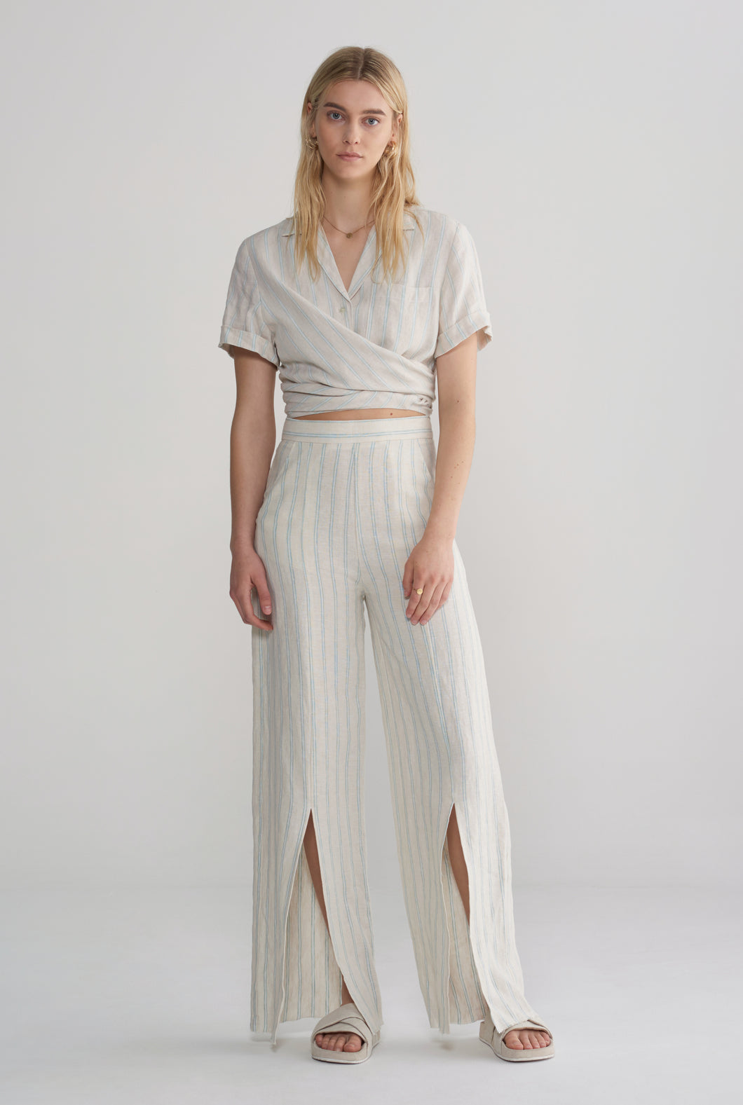 Front Split Pant - Summer Stripe