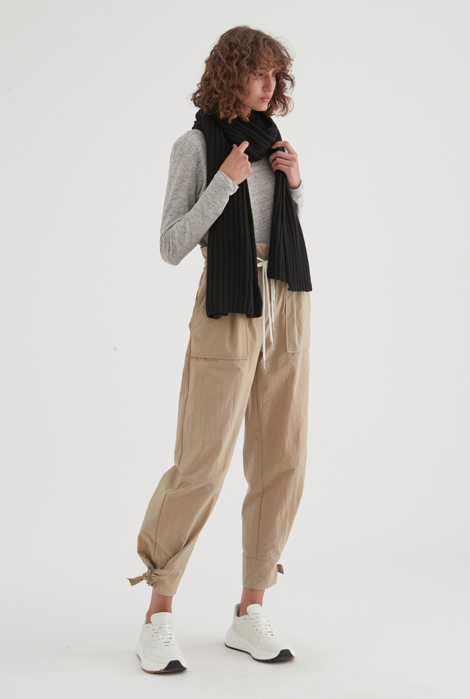 Womens Cashmere Scarf - Black