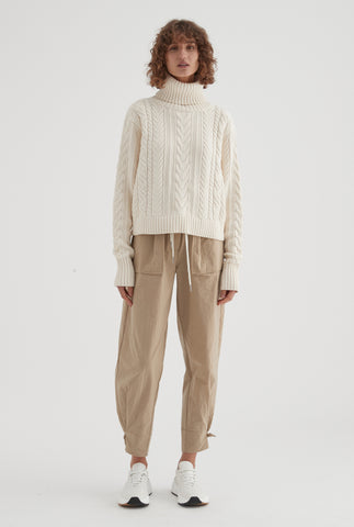 Cotton Cashmere Cable Knit - Milk