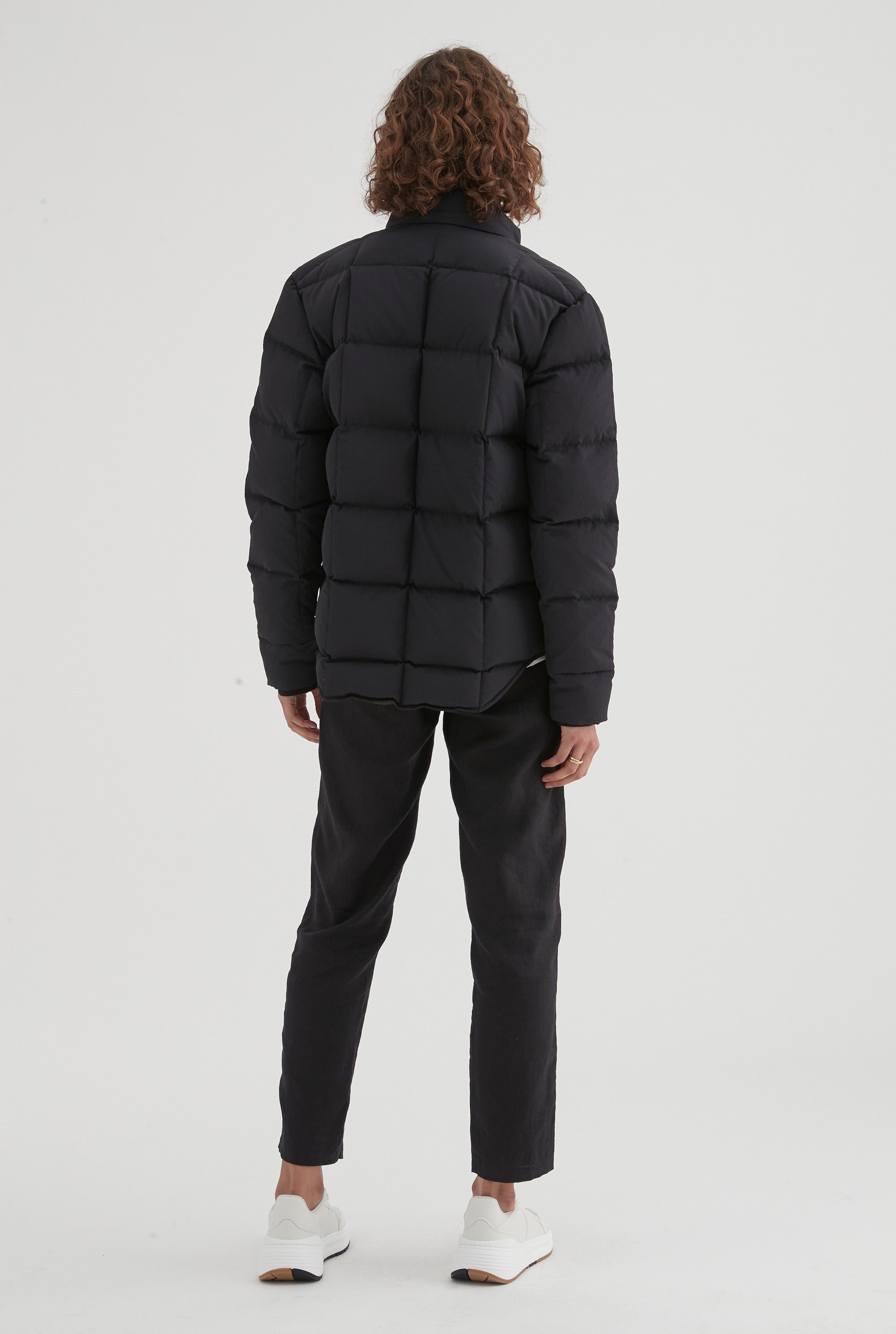 Nylon Down Jacket - Black