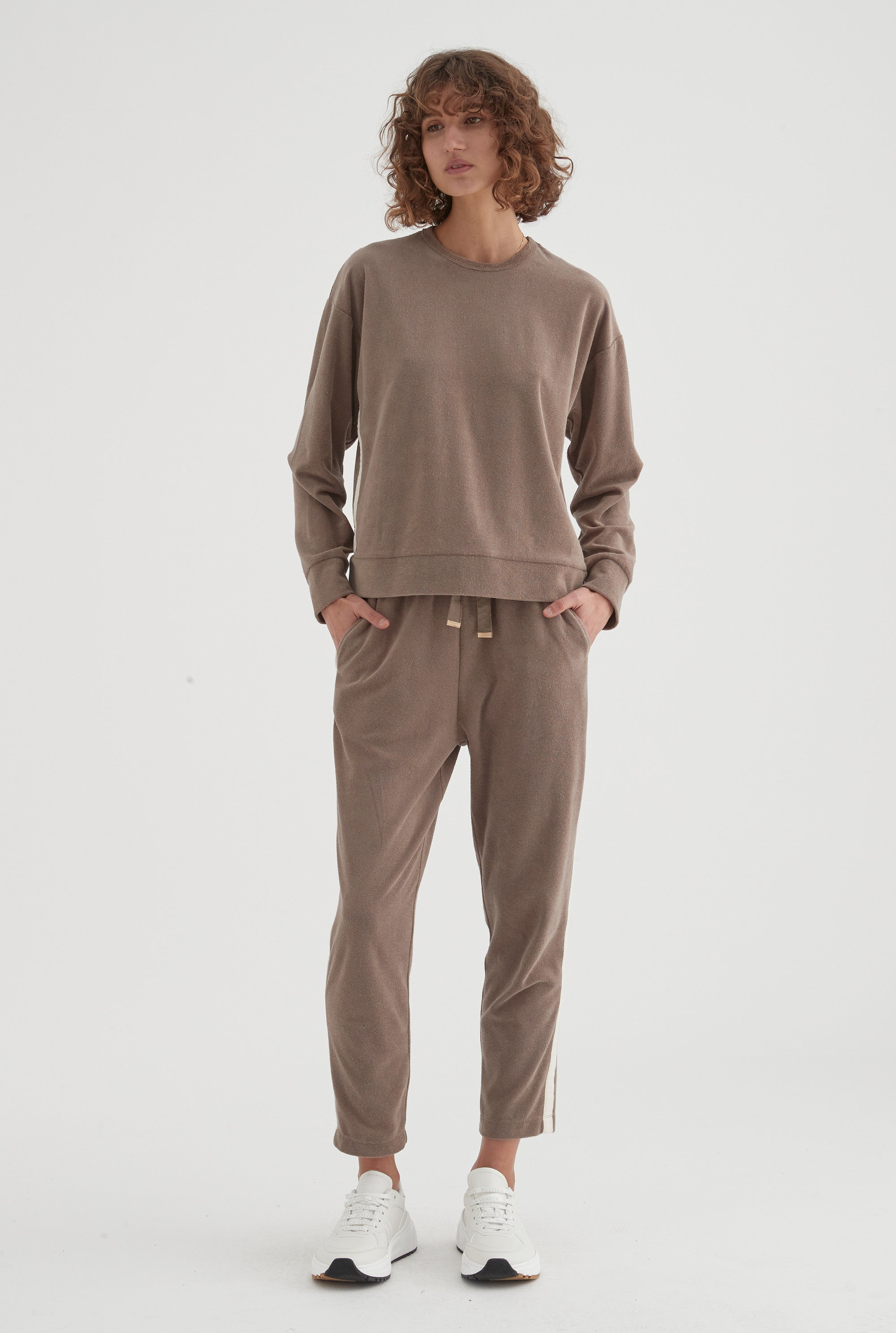 Terry Towel Lounge Pant - Military