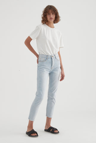 Womens High Rise Jean - Light Blue Denim