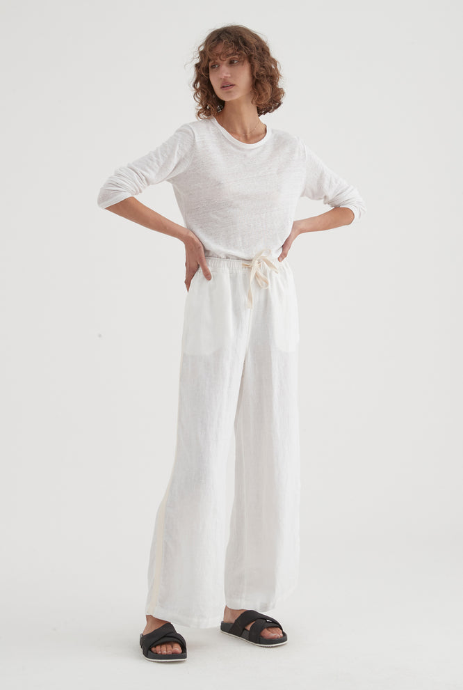 Side Stripe Pant - White/HS Tape