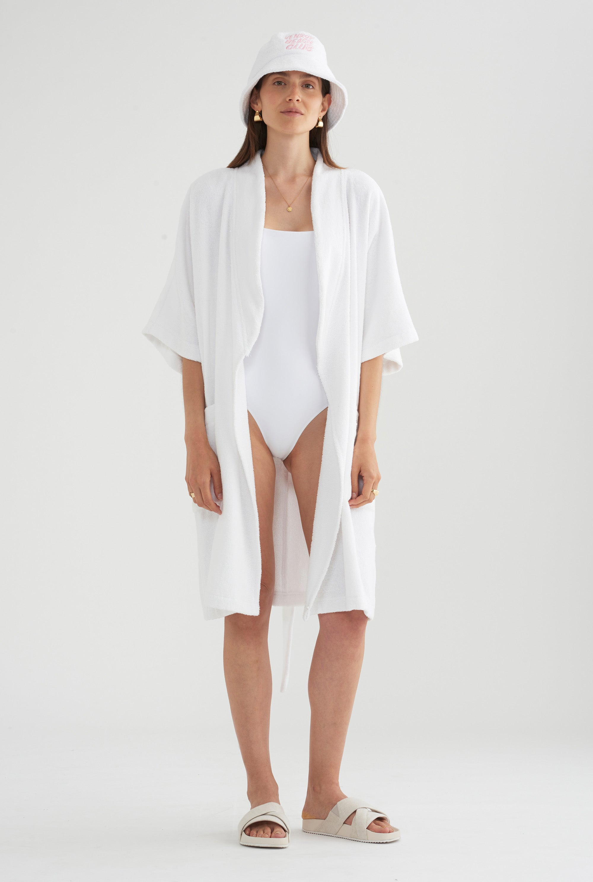 Beach Club Robe - White