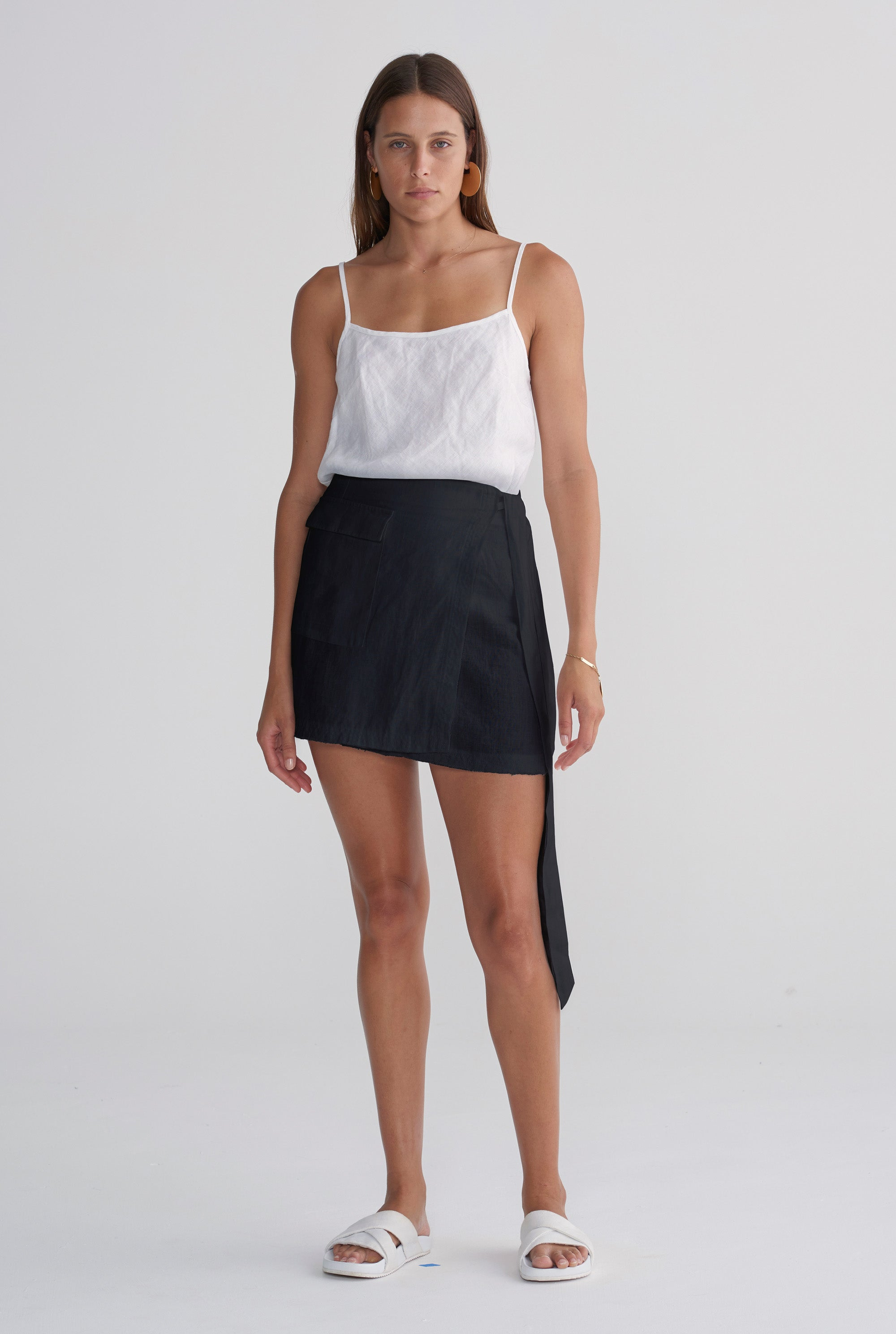 Mini Wrap Skirt - Black