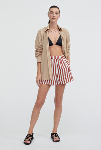 Oversized Voile Shirt - Taupe
