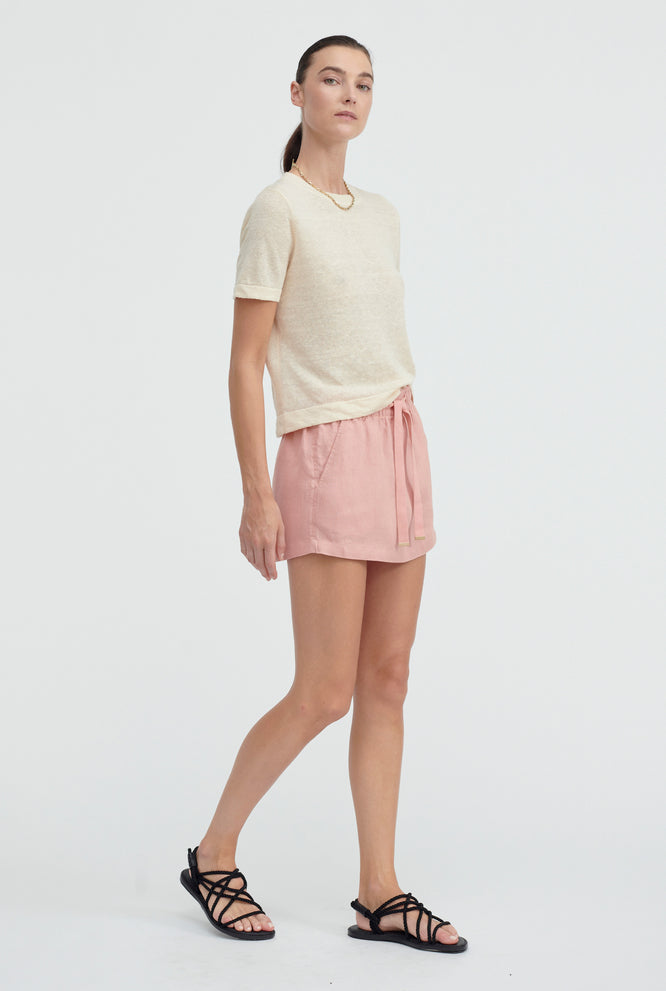 Knitted T-Shirt - Oat