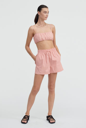 Cotton Drawstring Short - Melon