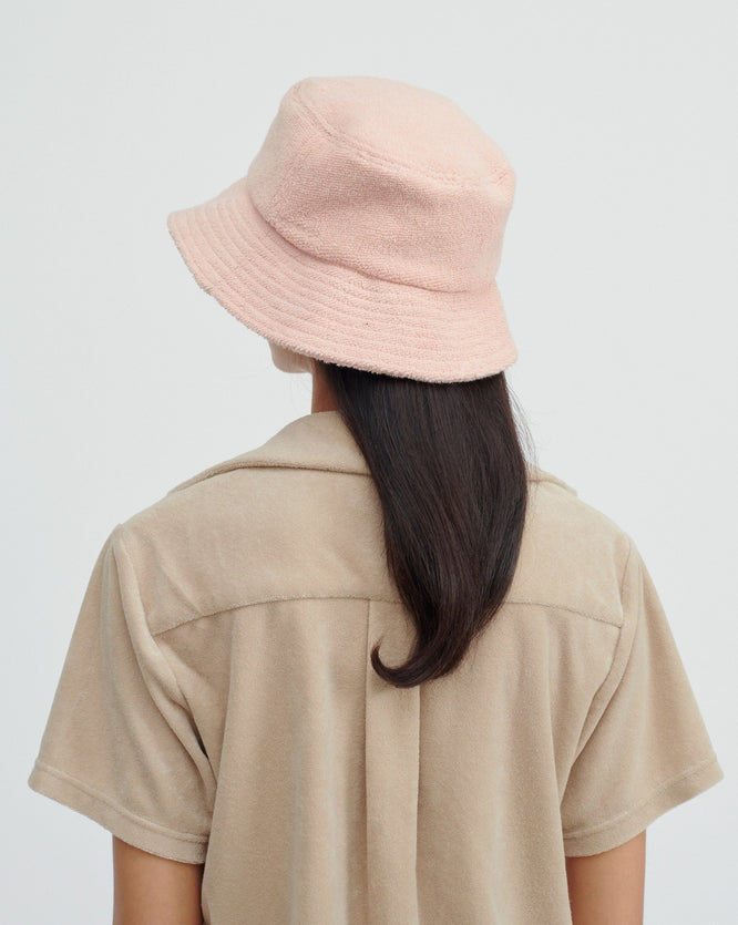 Woven Terry Bucket Hat - Melon