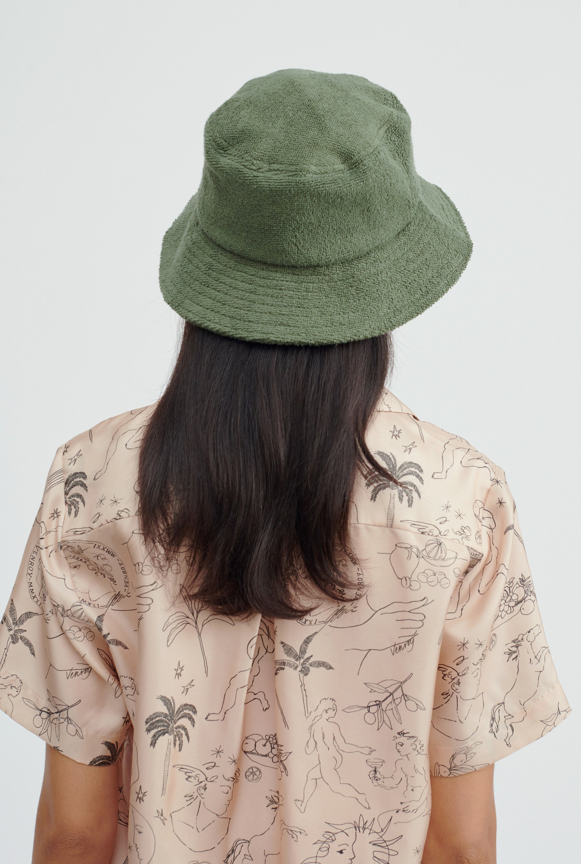 Woven Terry Bucket Hat - Signature Green