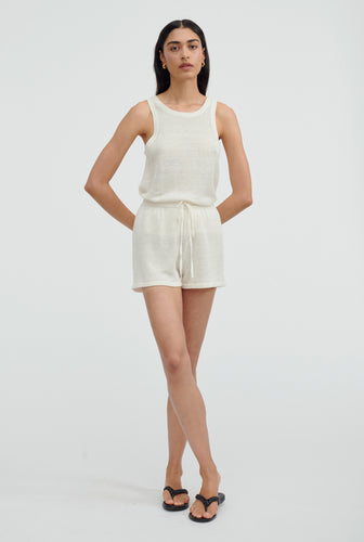 Knitted Tank - Off White