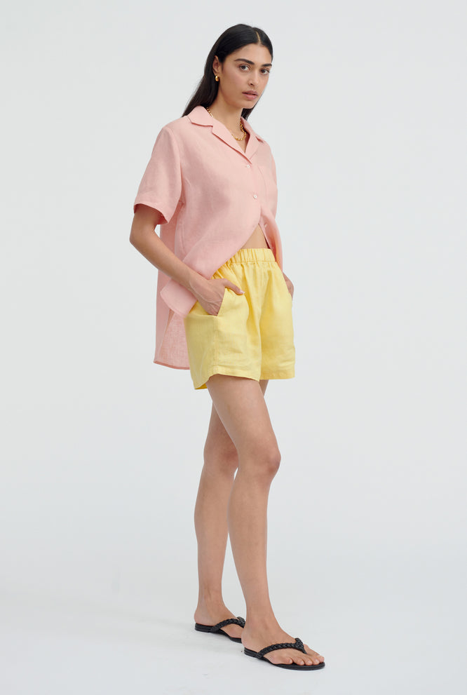 Camp Collar Shirt - Melon