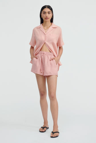 High Waisted Lounge Short - Melon