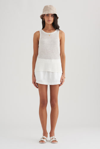 Knitted Tank - White