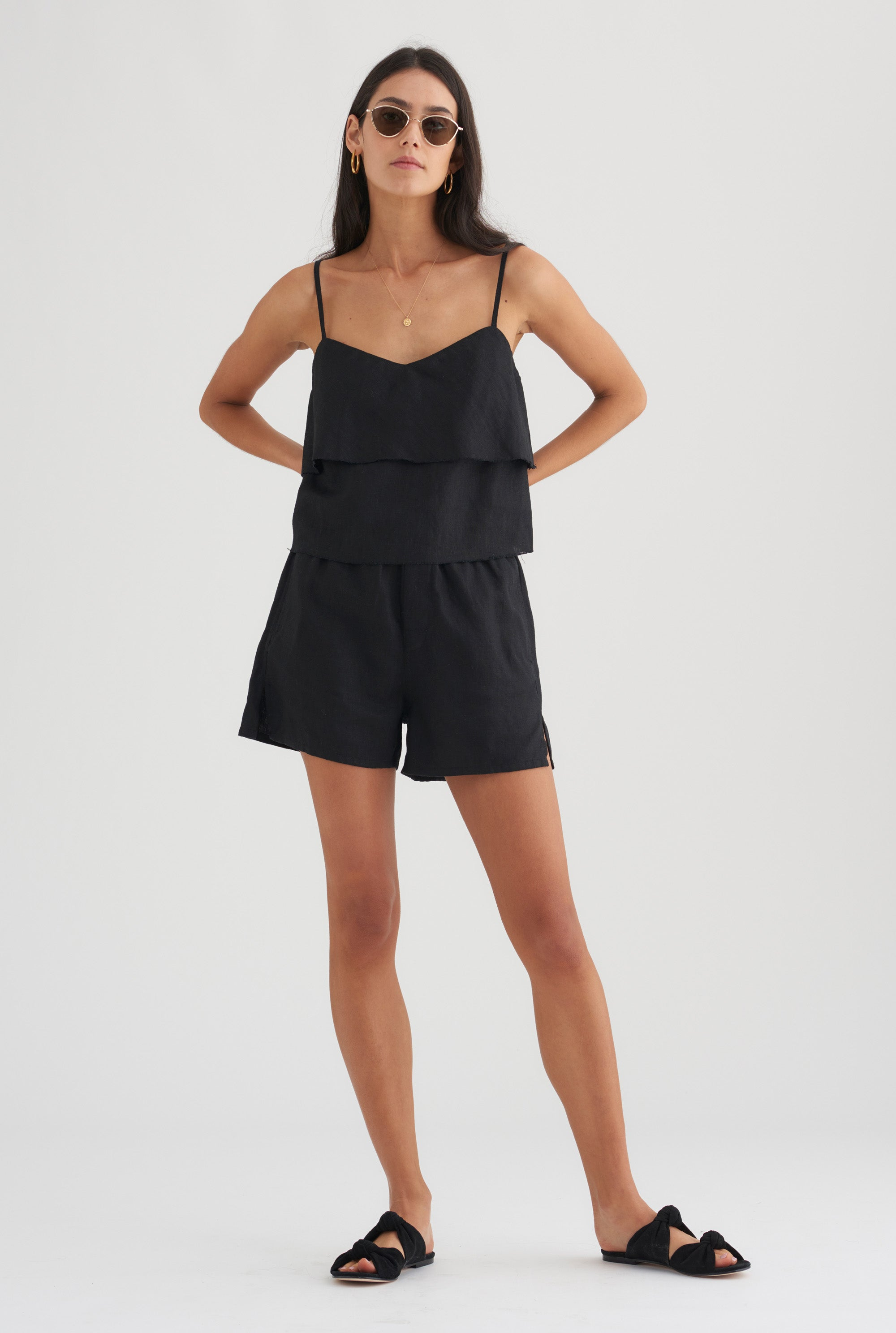 Floating Cami - Black
