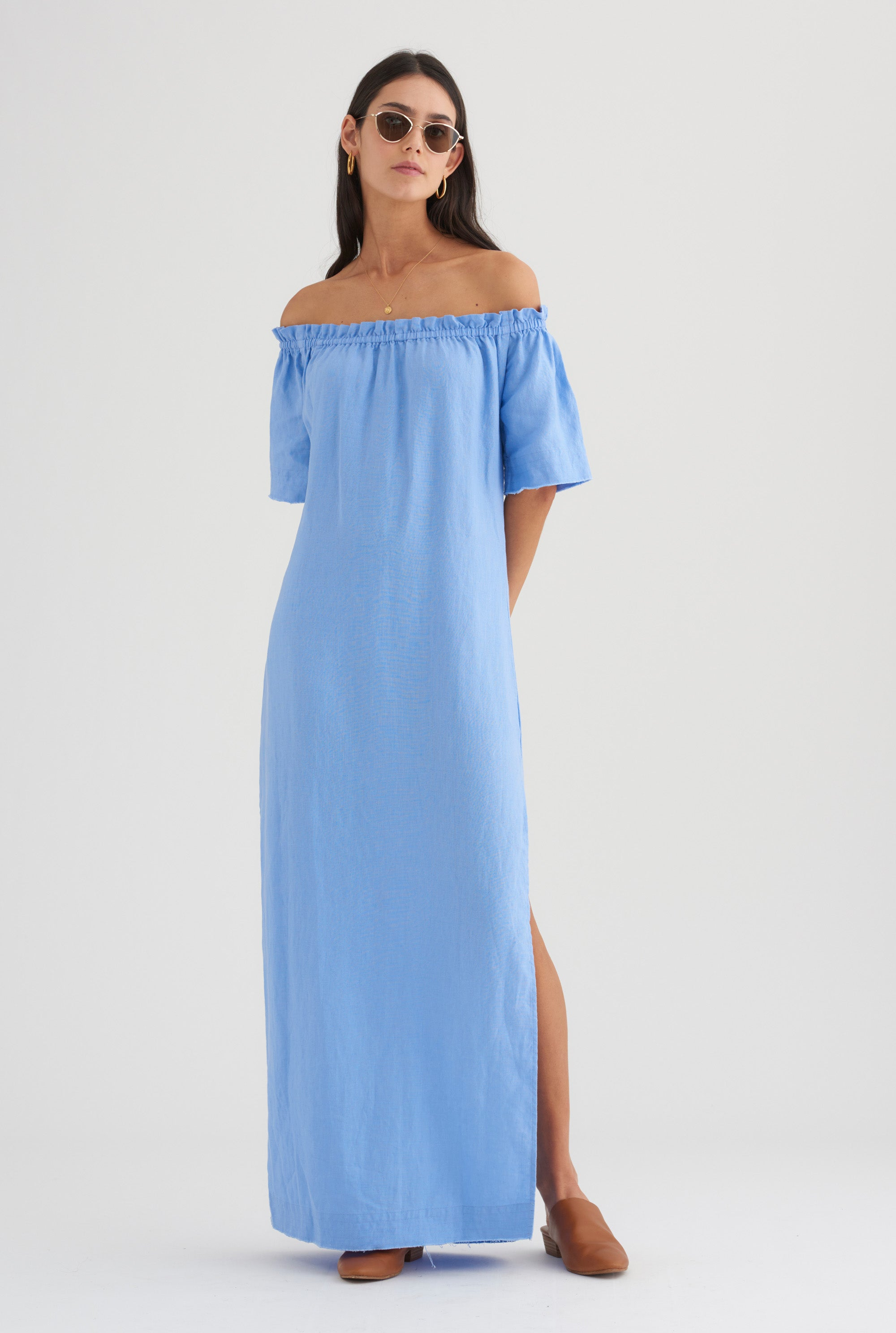 Strapless Maxi Dress - Cornflower Blue