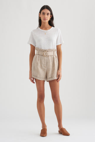 Relaxed Waist Short - Holiday Stripe