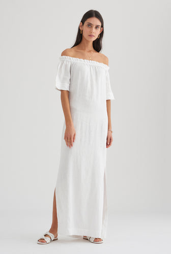 Strapless Maxi Dress - White