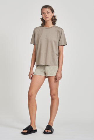 Oversized Cotton T-Shirt - Putty