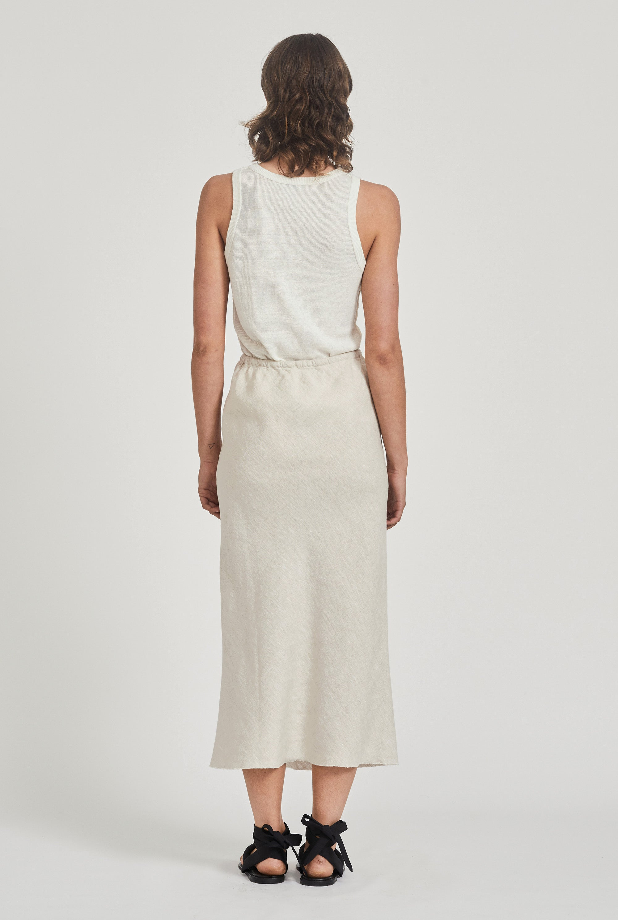 Exposed Seam Knitted Tank - Off White
