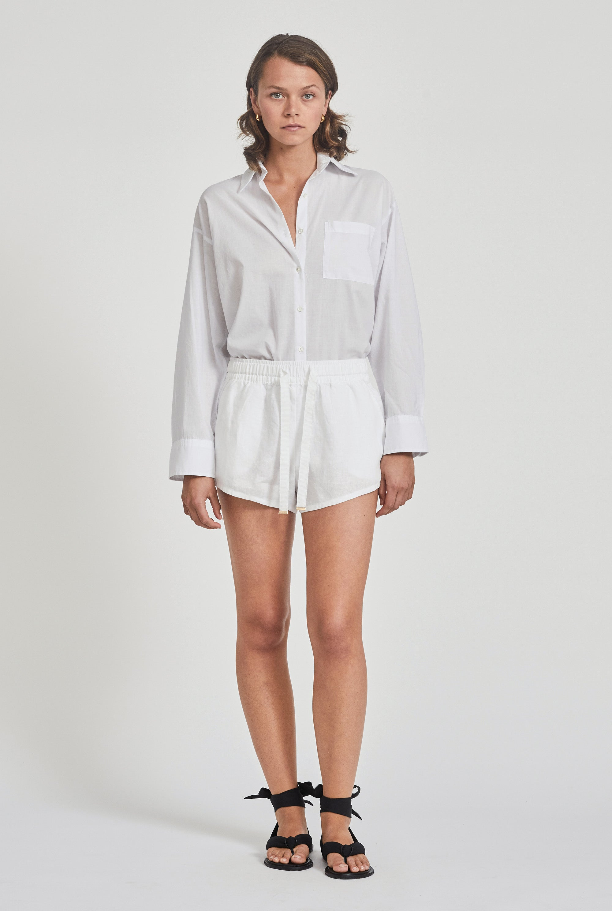 Womens Lounge Short - White
