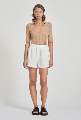 Linen Boxer Short - White