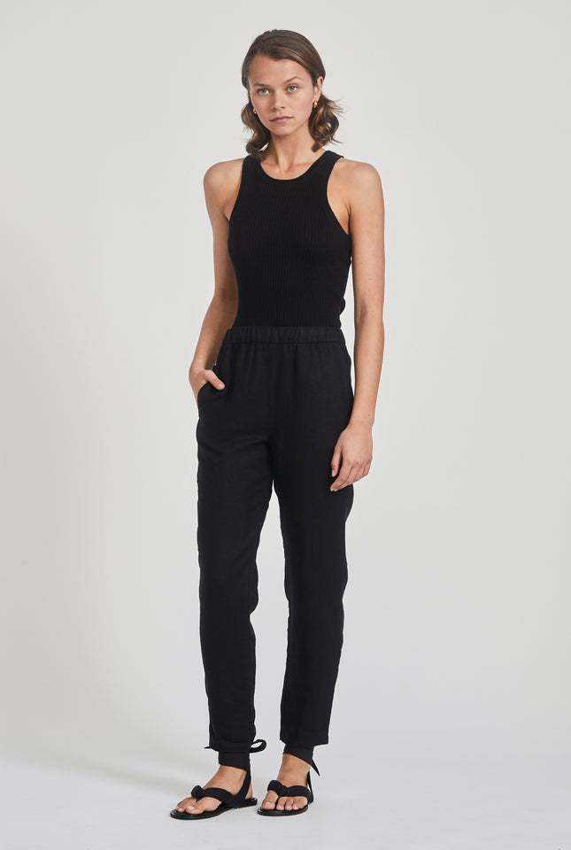 High Waisted Lounge Pant - Black