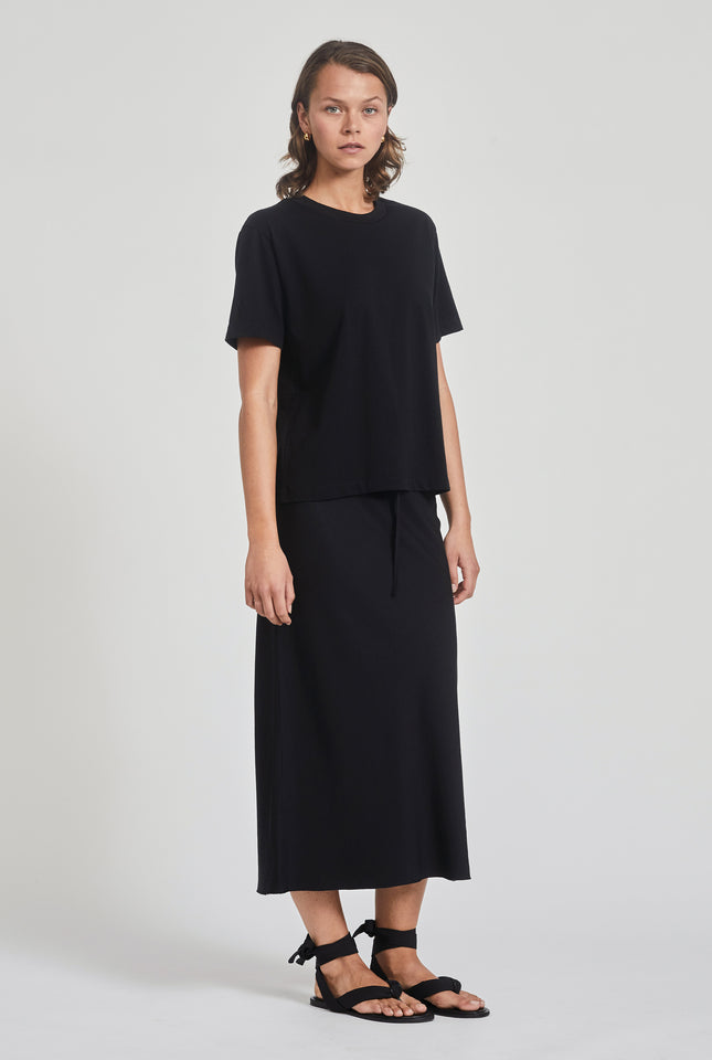 Slip Bias Skirt - Black