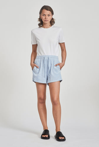 Terry Drawstring Short - Spring Blue