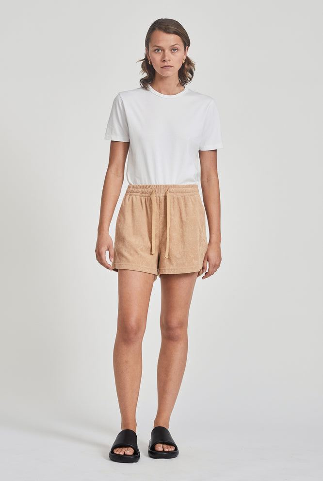 Terry Drawstring Short - Camel