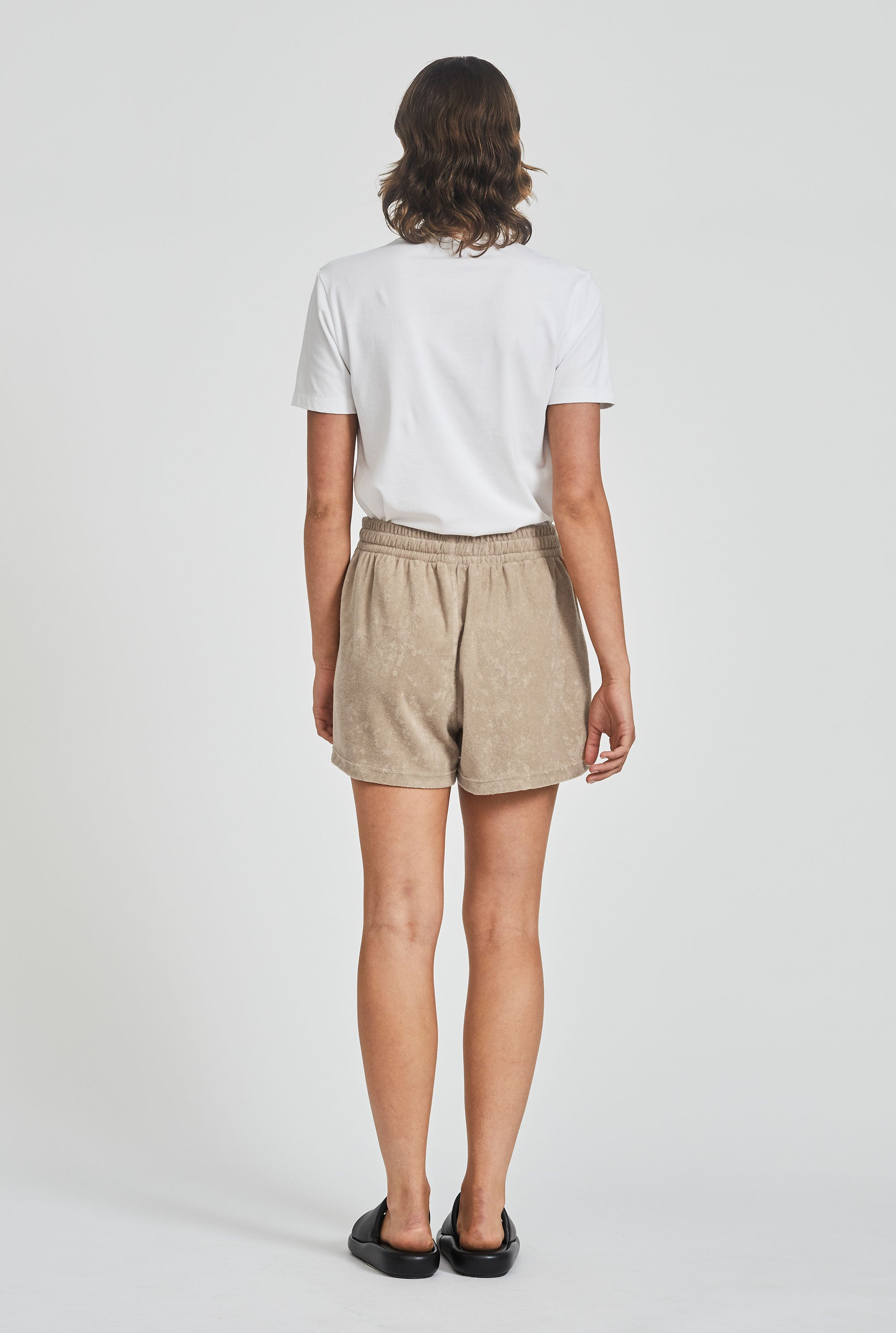 Terry Drawstring Short - Oat